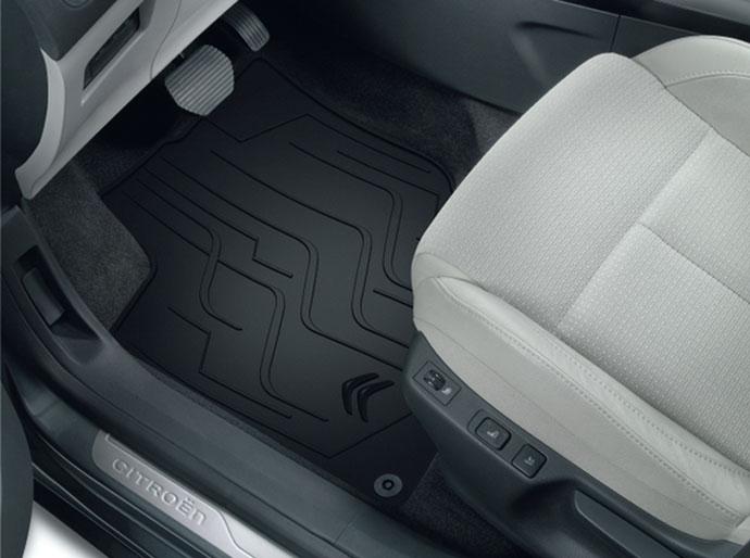 Tapis de sol caoutchouc 3D pour Citroën C4 et DS4