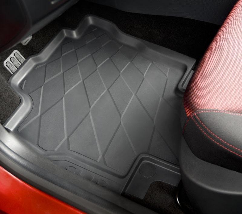 Tapis de sol caoutchouc 3D pour Renault Clio 4