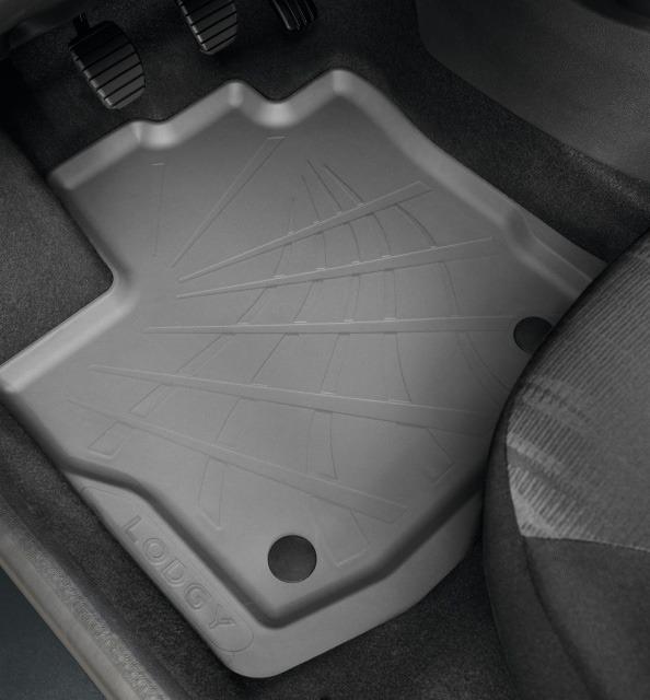 Tapis de sol caoutchouc 3D pour Dacia Lodgy