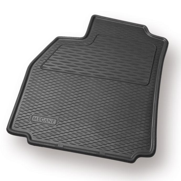 Tapis de sol caoutchouc 3D pour Renault Megane 2