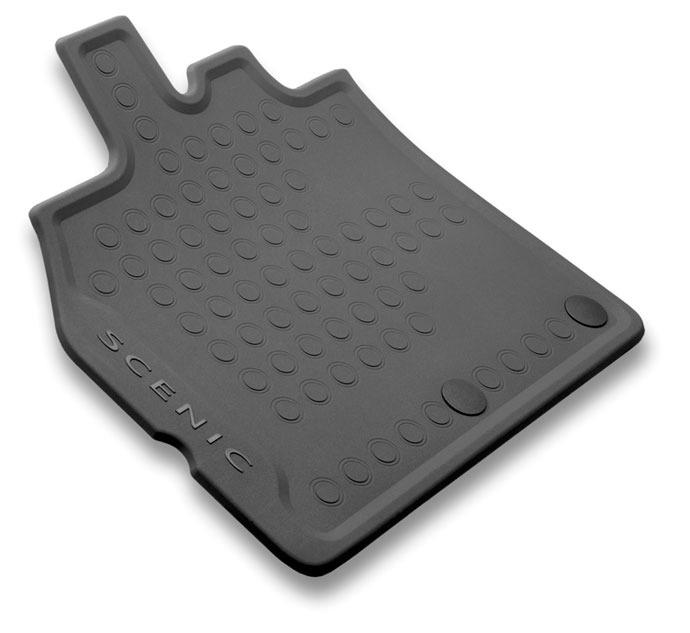 Tapis de sol caoutchouc 3D pour Renault Scenic 3