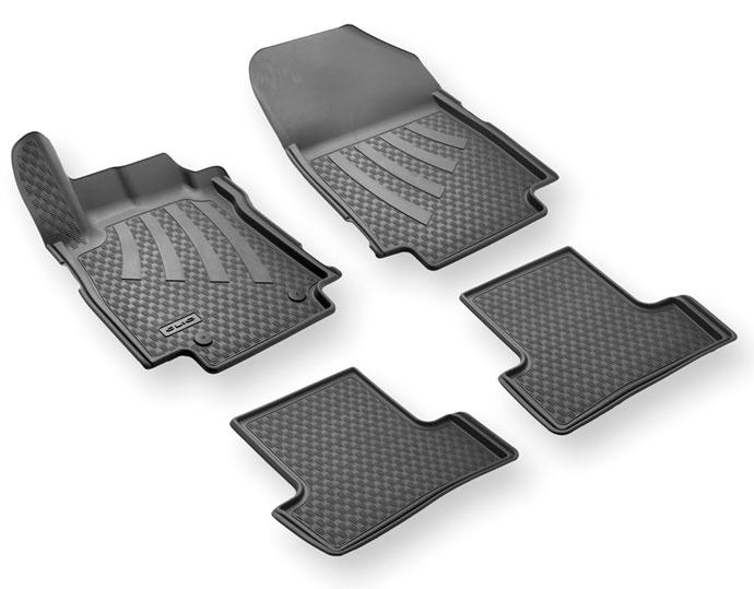 Tapis de sol caoutchouc 3D pour Renault Clio 3 - Set de 4 pièces