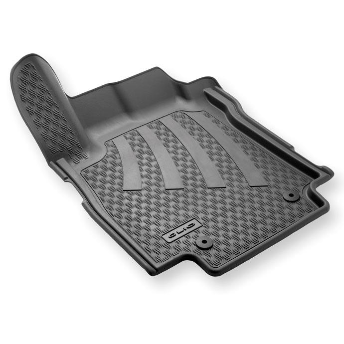 Tapis de sol caoutchouc 3D pour Renault Clio 3